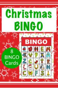 Christmas Alphabet Bingo Printable