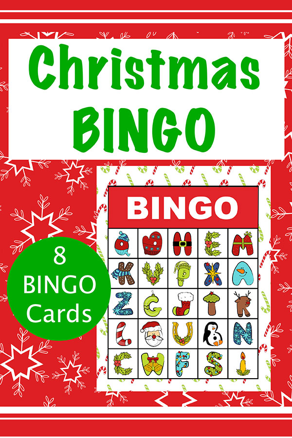 Christmas Alphabet Bingo Printable