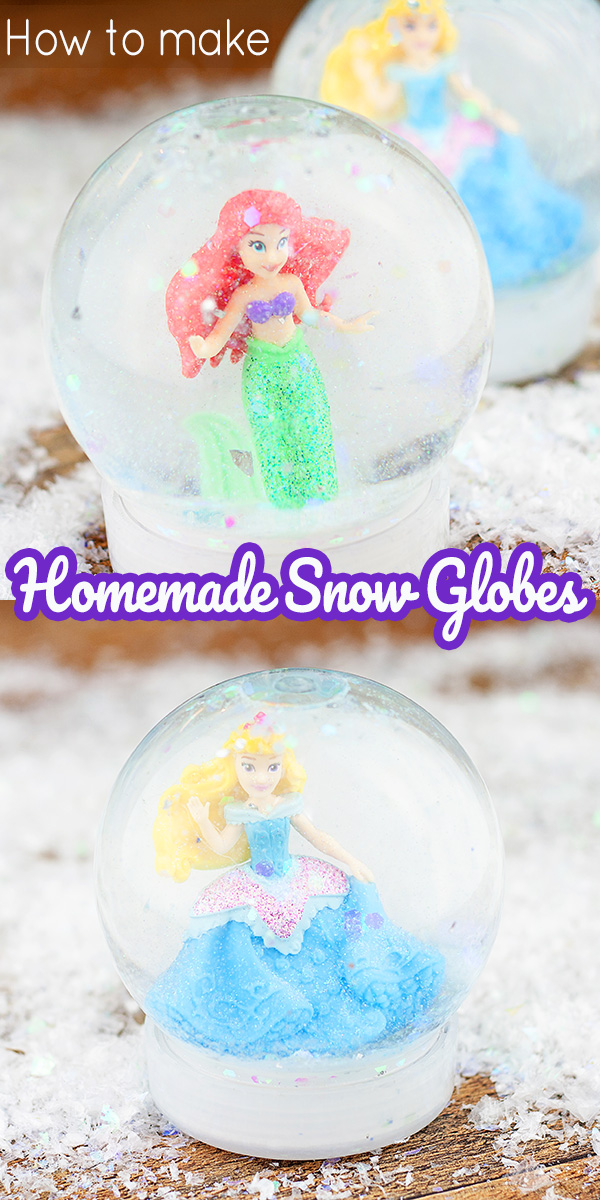 Homemade snow globe tutorial