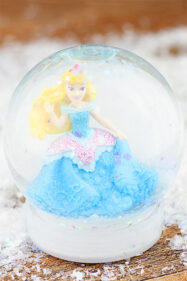 Kids craft DIY snow globe
