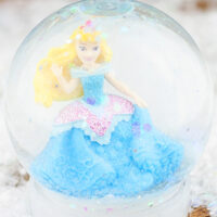 Kids craft DIY snow globe