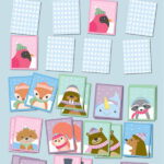 Winter Animals Matching Pairs Game