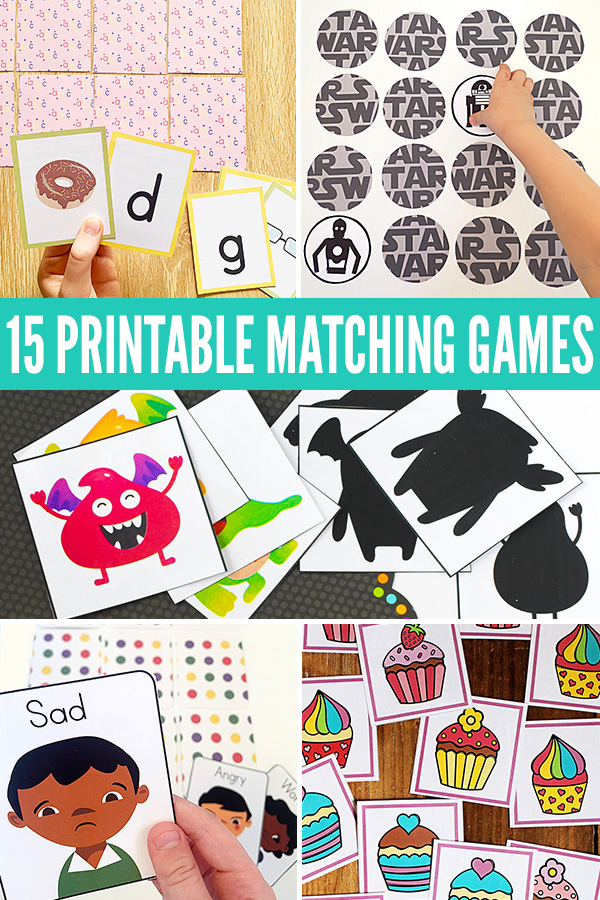15 Printable Matching Games for Kids