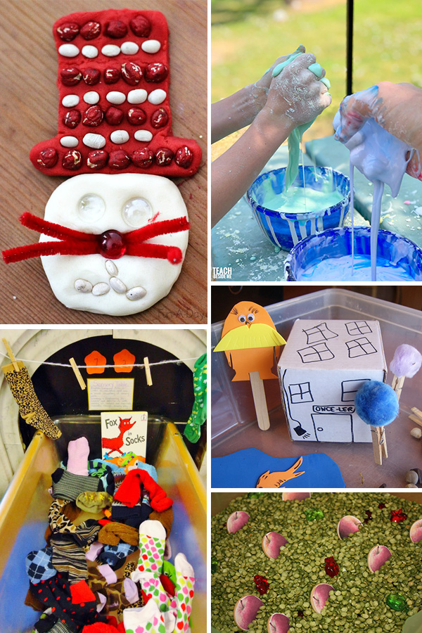 Seuss Inspired Sensory Play Ideas