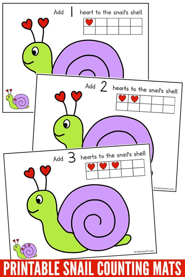 Printable Snail Counting Mats