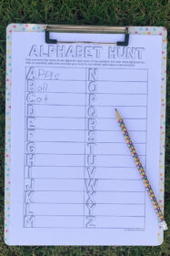 Alphabet scavenger hunt free printable