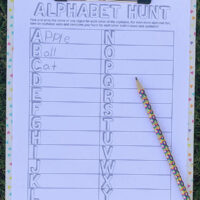 Alphabet scavenger hunt free printable