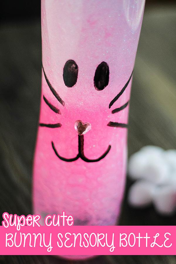 Easter bunny sensory bottle idea