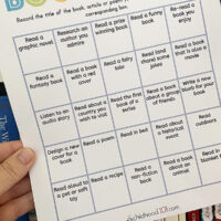 Kids Book Bingo Printable