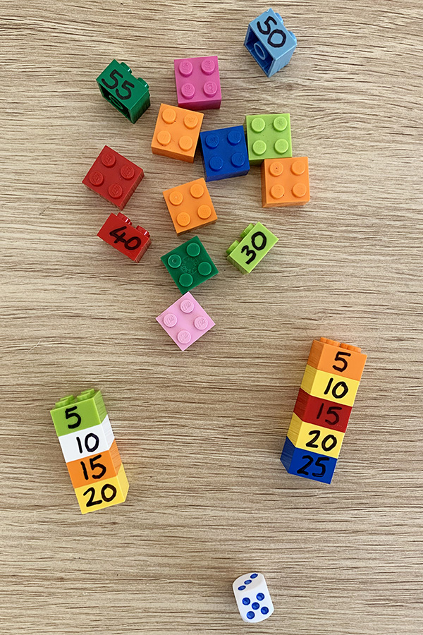 Lego times tables towers