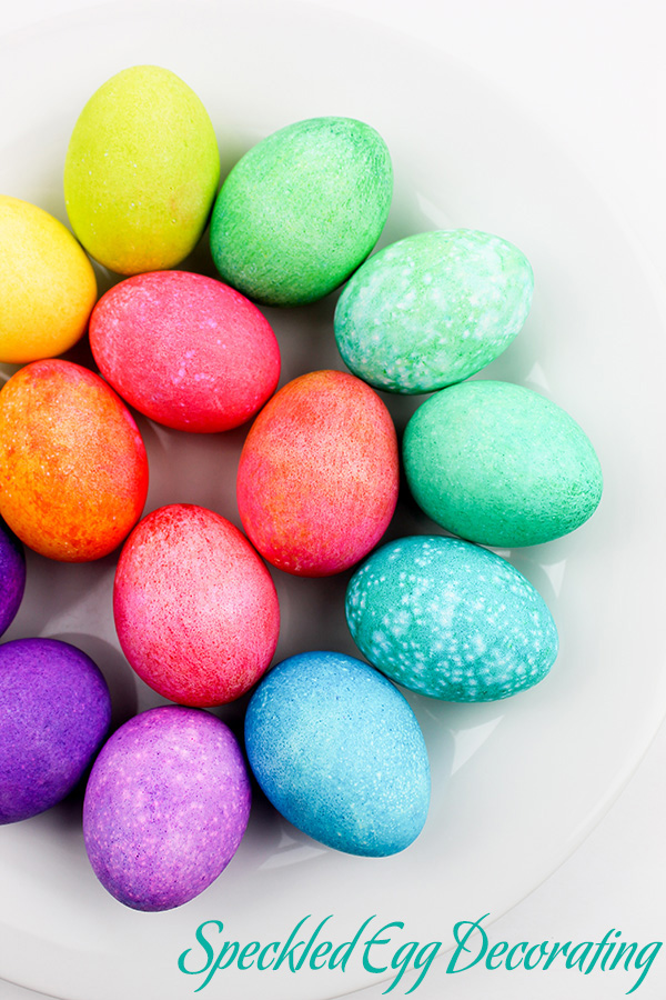 Dyeing Easter Eggs with Kids- Speckled Egg Decorating with Rice