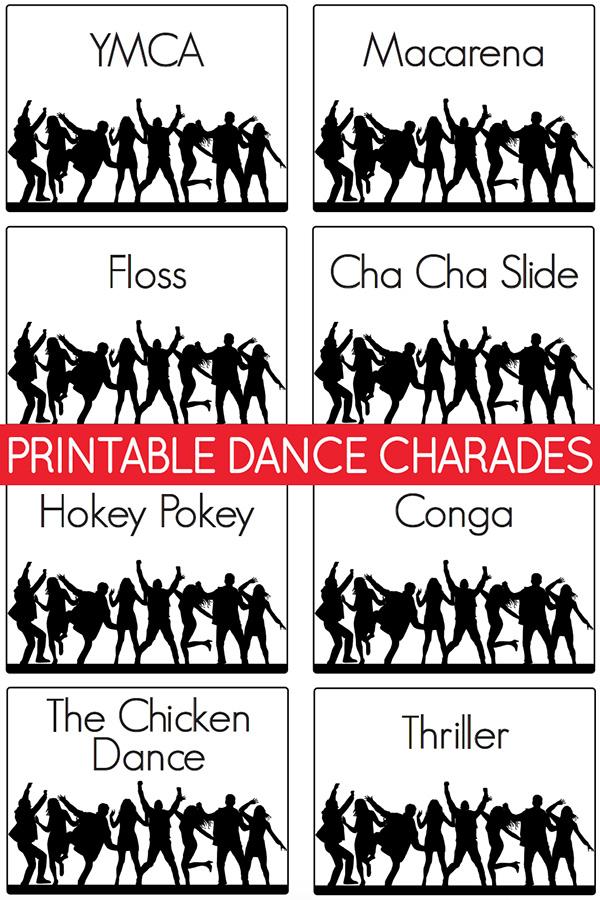 Printable dance charades