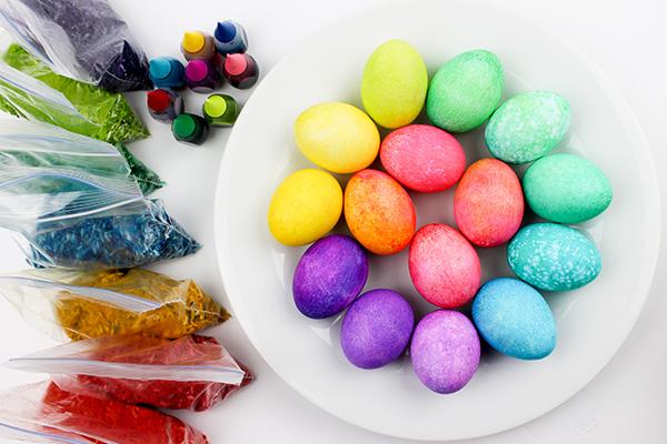 rainbow egg dyeing tutorial