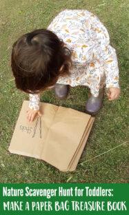 Toddler nature scavenger hunt