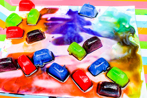 Ice painting for toddlers and preschoolers