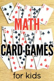 Math card games for children