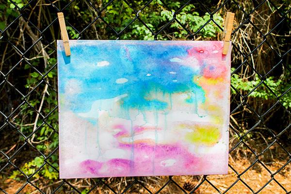 ice painting artwork sensory play