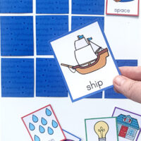 Compound words memory matching game