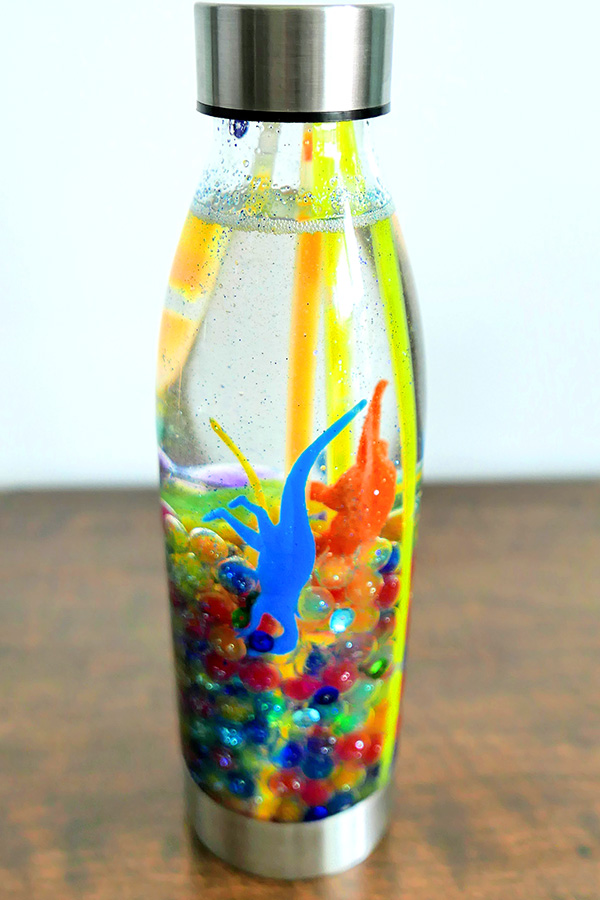 Dinosaur sensory play bottle
