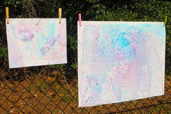 Glitter ice painting idea