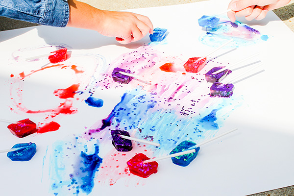 Ice stick painting