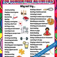 Screen free activities for tweens and teens