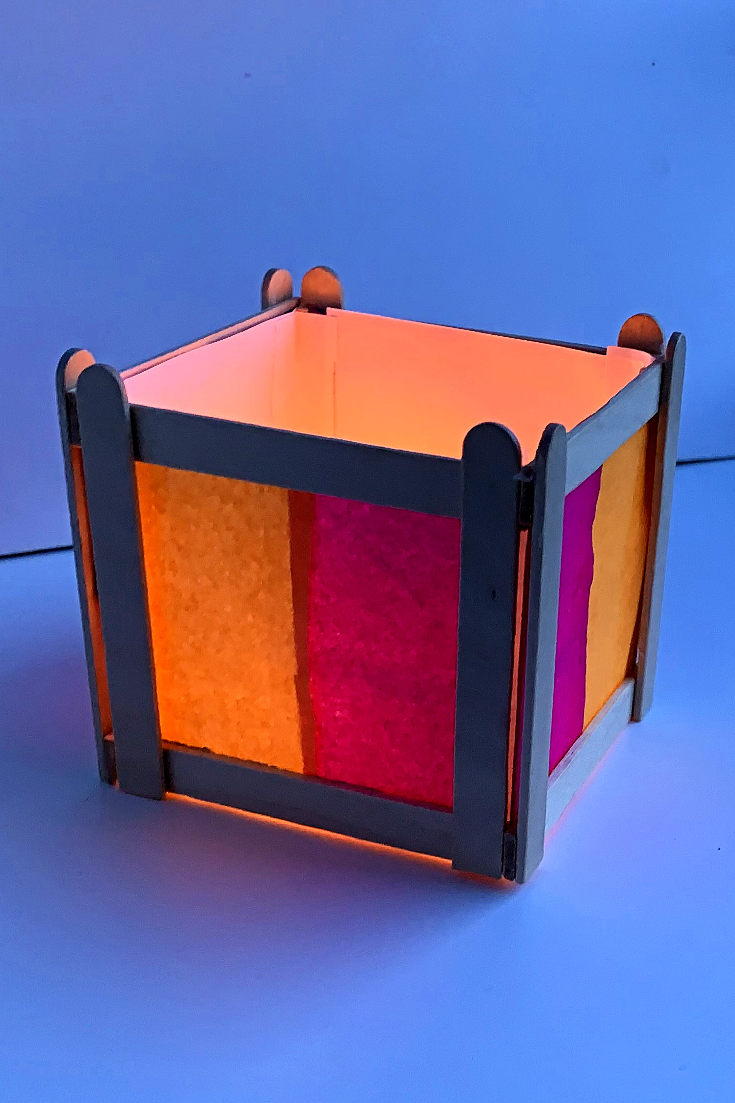 Tween Craft Idea Craft Stick Tissue Paper Lantern
