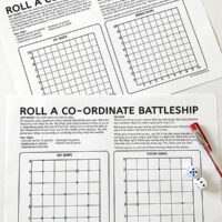 Co-ordinates Battleship Math Game