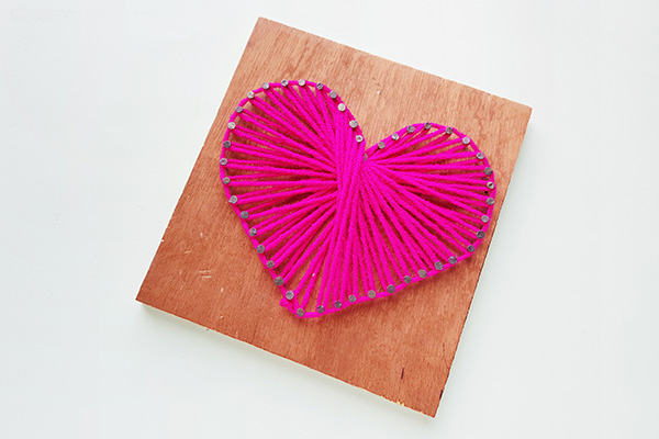 DIY string art tween craft tutorial