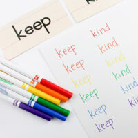 Rainbow sight words activity