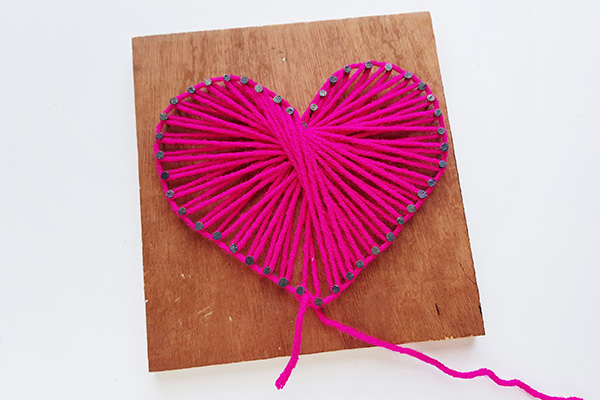 String art heart tween craft tutorial