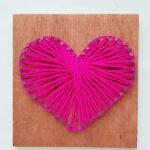 String art tutorial: Make a String Art Heart