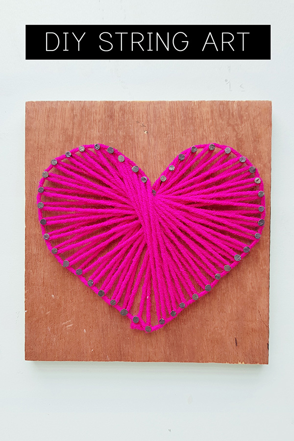 String art tutorial: Make a String Art Heart
