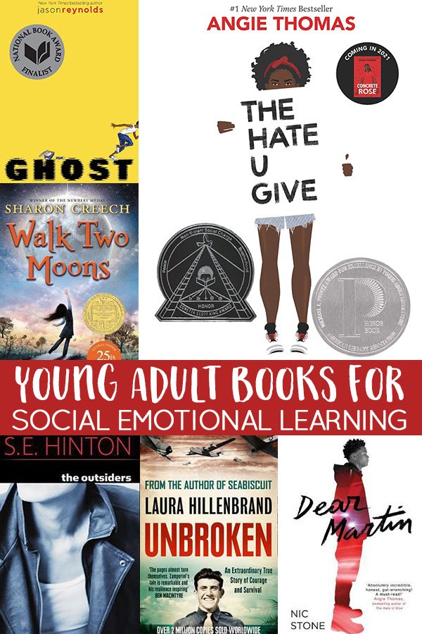 YA books for social emotional learning for middle and high school