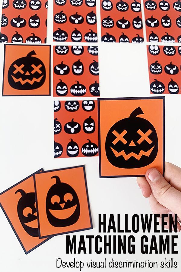 Hallowen pumpkins matching game