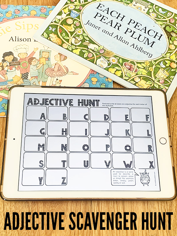 Printable adjective activity