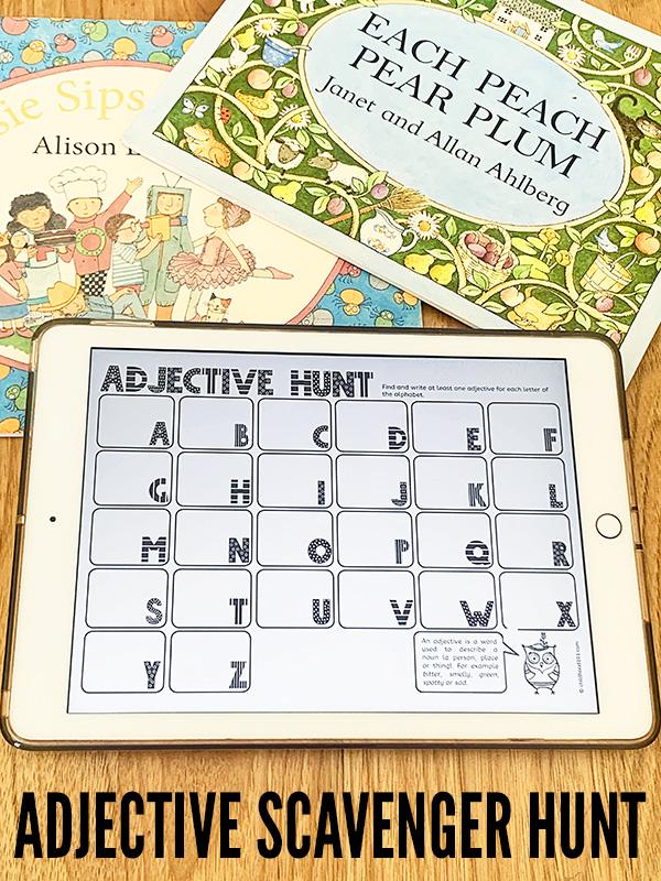 Printable adjective activity
