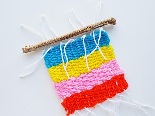 Simple kids weaving idea