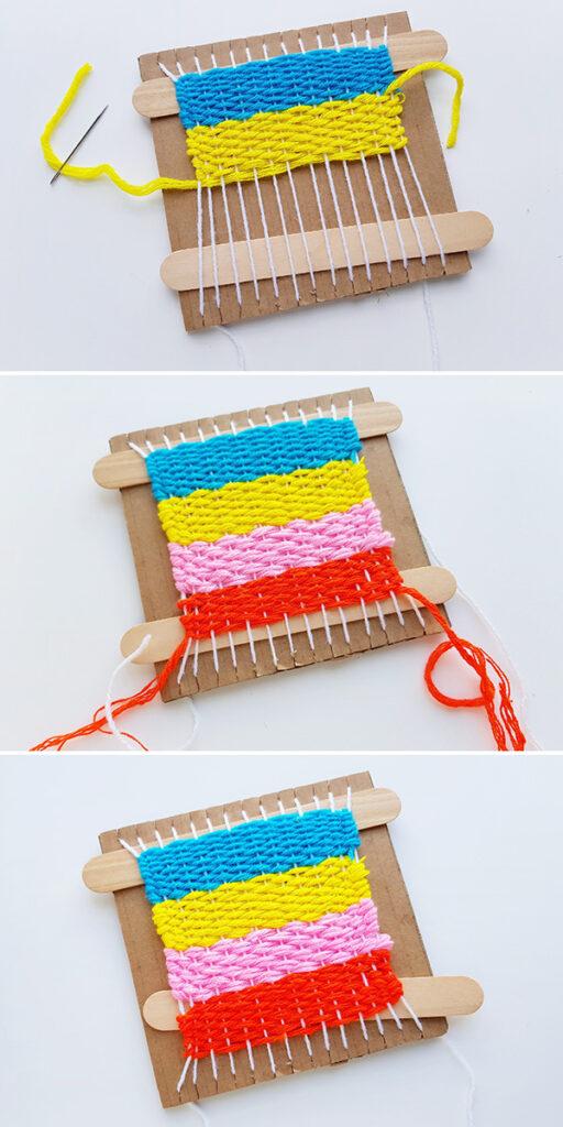Beginning kids weaving tutorial
