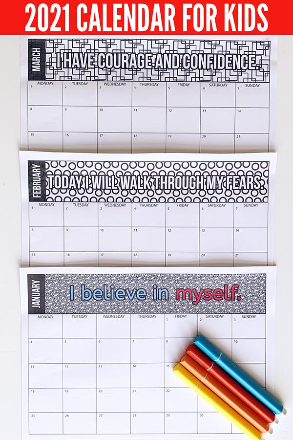 2021 Children's Calendar