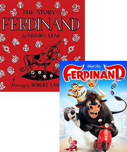 Ferdinand movie and book