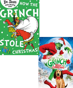 Grinch movie and book