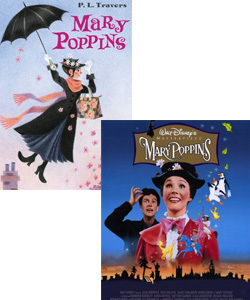 Mary Poppins book and movie