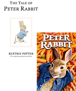 Peter Rabbit book and movie
