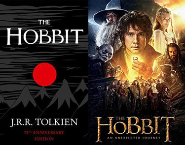 The Hobbit book and movie
