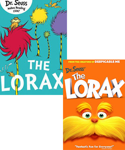 The Lorax book and movie