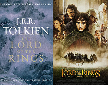 The Lord of the Rings book and movie