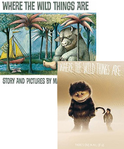 Where the wild things are book and movie