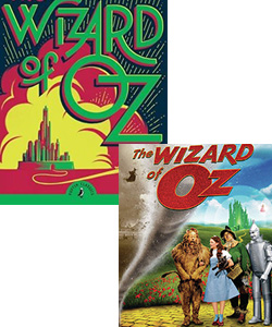 Wizard of Oz book and movie