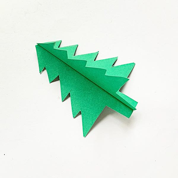 3D Paper Christmas Tree Tutorial